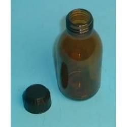 Flacon verre brun 125 ml réf 31010028